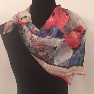 Vintage Auteuil Fabrics Rose Print Scarf